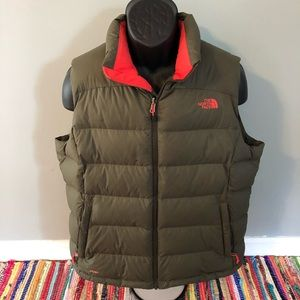 North Face 700 Puffer Vest Ski Winter Neon XL